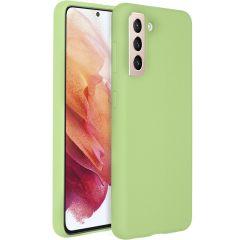 Accezz Cover in Silicone Liquido Samsung Galaxy S21 Plus - Verde