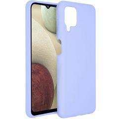 Accezz Cover in Silicone Liquido Samsung Galaxy A12 - Viola