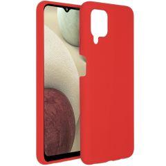 Accezz Cover in Silicone Liquido Samsung Galaxy A12 - Rosso