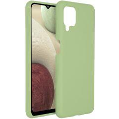 Accezz Cover in Silicone Liquido Samsung Galaxy A12 - Verde