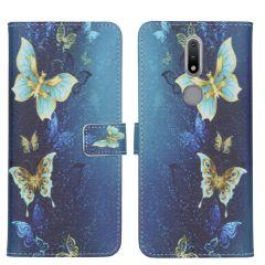 iMoshion Design Custodia a Libro Morbida Nokia 2.4 - Blue Butterfly