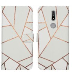 iMoshion Design Custodia a Libro Morbida Nokia 2.4 - White Graphic