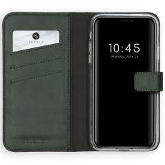 Selencia Custodia Portafoglio in Vera Pelle iPhone Xs - Verde