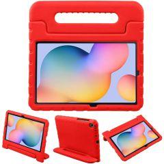 iMoshion Cover Antishoc Speciale Bambini con Manico Samsung Galaxy Tab S6 Lite - Rosso
