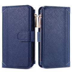 iMoshion Portafoglio de Luxe Samsung Galaxy A12 - Blu scuro