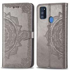 iMoshion Custodia Portafoglio Mandala Samsung Galaxy M30s / M21 - Grigio