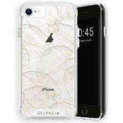 Selencia Zarya Cover Fashion Extra Protettiva iPhone SE (2020) / 8 / 7 / 6(s) - Gold Botanic