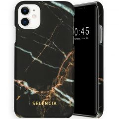 Selencia Maya Cover Fashion iPhone 11 - Marble Black