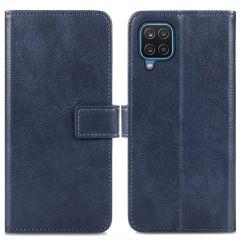 iMoshion Custodia Portafoglio de Luxe Samsung Galaxy A12 - Blu scuro