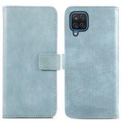 iMoshion Custodia Portafoglio de Luxe Samsung Galaxy A12 - Azzurro