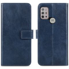 iMoshion Custodia Portafoglio de Luxe Motorola Moto G30 / G20 / G10 (Power) - Blu scuro