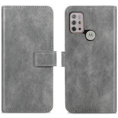 iMoshion Custodia Portafoglio de Luxe Motorola Moto G30 / G20 / G10 (Power) - Grigio