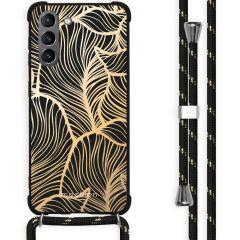 iMoshion Cover Design con Cordino Samsung Galaxy S21 Plus - Golden Leaves