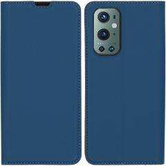 iMoshion Custodia a Libro Slim OnePlus 9 Pro - Blu scuro