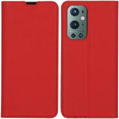 iMoshion Custodia a Libro Slim OnePlus 9 Pro - Rosso