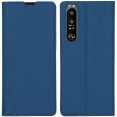 iMoshion Custodia a Libro Slim Sony Xperia 1 III - Blu scuro