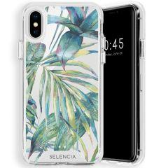 Selencia Zarya Cover Fashion Extra Protettiva iPhone Xs / X - Green Jungle Leaves