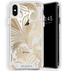 Selencia Zarya Cover Fashion Extra Protettiva iPhone Xs / X - Paisley Gold