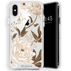 Selencia Zarya Cover Fashion Extra Protettiva iPhone Xs / X - Golden Flowers