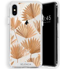 Selencia Zarya Cover Fashion Extra Protettiva iPhone Xs / X - Palm Leaves