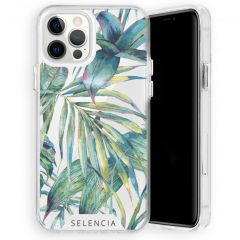 Selencia Zarya Cover Fashion Extra Protettiva iPhone 12 (Pro) - Green Jungle Leaves