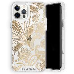 Selencia Zarya Cover Fashion Extra Protettiva iPhone 12 (Pro) - Paisley Gold