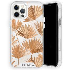 Selencia Zarya Cover Fashion Extra Protettiva iPhone 12 (Pro) - Palm Leaves
