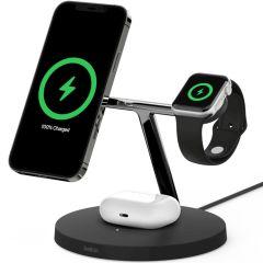 Belkin Caricabatterie Wireless 3-in-1 MagSafe + Apple Watch + AirPods - Nero