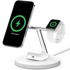 Belkin Caricabatterie Wireless 3-in-1 MagSafe + Apple Watch + AirPods - Bianco
