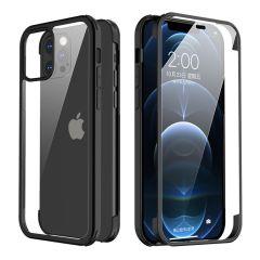 Valenta Cover completa a 360° in vetro temperato per iPhone 12 (Pro) - Nera