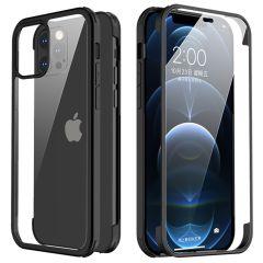 Valenta Cover completa a 360° in vetro temperato per iPhone 12 Pro Max - Nera
