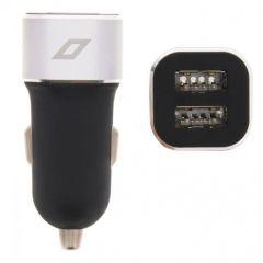 Accezz Caricabatterie per auto USB duale - 4,8A - Nero