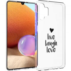 iMoshion Cover Design Samsung Galaxy A32 (4G) - Live Laugh Love