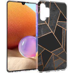 iMoshion Cover Design Samsung Galaxy A32 (4G) - Black Graphic