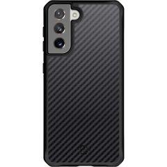 Itskins Custodia protettiva Hybrid Carbon Samsung Galaxy S21 - Nera