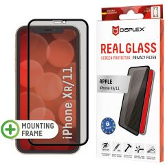Displex Pellicola Protettiva in Vetro Temperato Privacy iPhone 11 / Xr - Nero