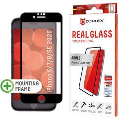 Displex Pellicola Protettiva in Vetro Temperato Full Cover iPhone SE (2020) / 8 / 7 / 6(s) - Nero