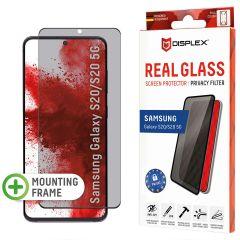 Displex Pellicola Protettiva in Vetro Temperato Privacy Samsung Galaxy S20 - Nero