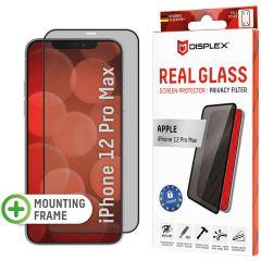 Displex Pellicola Protettiva in Vetro Temperato Privacy iPhone 12 Pro Max - Nero