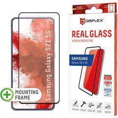 Displex Pellicola Protettiva in Vetro Temperato Full Cover Fingerprint Sensor Samsung Galaxy S21 - Nero