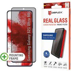 Displex Pellicola Protettiva in Vetro Temperato Privacy Samsung Galaxy S21 Ultra - Nero