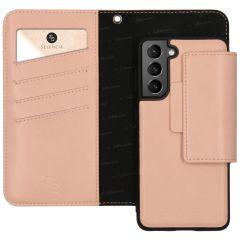 Selencia Surya Custodia rimovibile 2 in 1 in Pelle Vegana Samsung Galaxy S21 Plus - Rosa