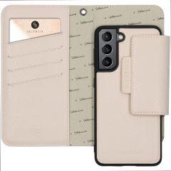 Selencia Llyr Custodia rimovibile 2 in 1 Serpente Samsung Galaxy S21 - Bianco