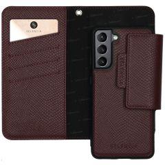 Selencia Llyr Custodia rimovibile 2 in 1 Serpente Samsung Galaxy S21 Plus - Rosso scuro