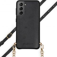 Selencia Aina Custocia Serpente con Cordino Samsung Galaxy S21 - Nero