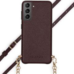 Selencia Aina Custocia Serpente con Cordino Samsung Galaxy S21 - Rosso