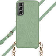 Selencia Aina Custocia Serpente con Cordino Samsung Galaxy S21 - Verde