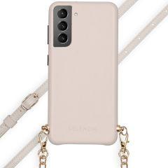 Selencia Aina Custocia Serpente con Cordino Samsung Galaxy S21 - Bianco