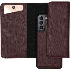 Selencia Pochette Rimovibile Serpente Samsung Galaxy S21 - Rosso