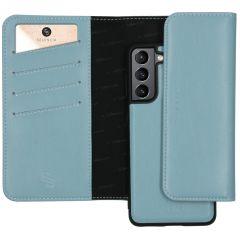 Selencia Eny Pochette in Pelle Vegana rimovibile Samsung Galaxy S21 Plus - Blu